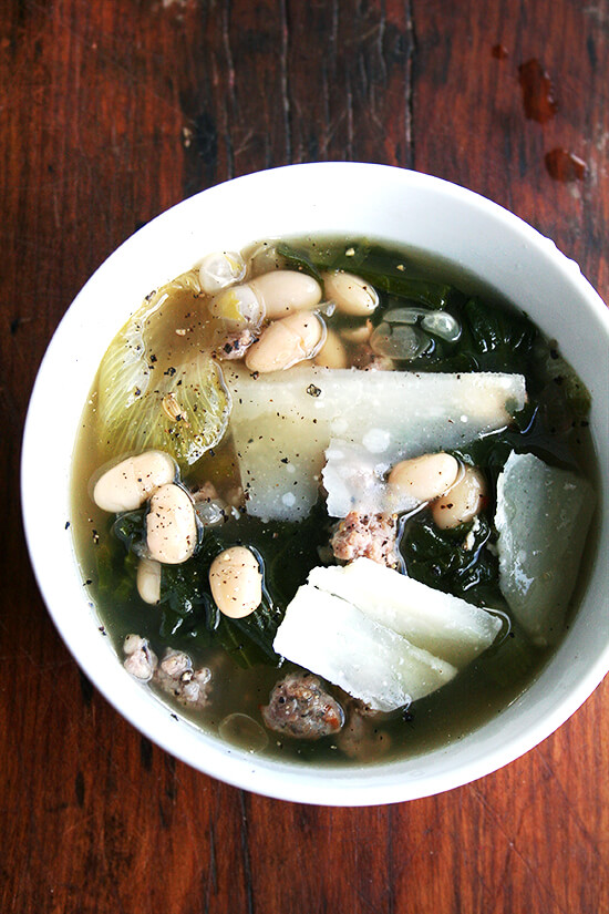 White Bean, Escarole & Sausage Soup