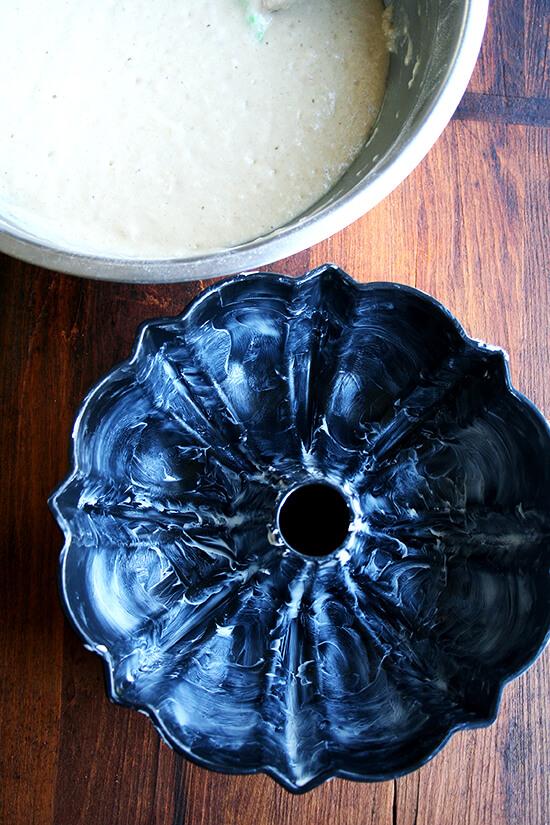 buttered bundt pan