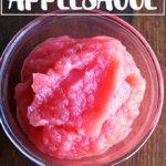 A bowl of homemade applesauce
