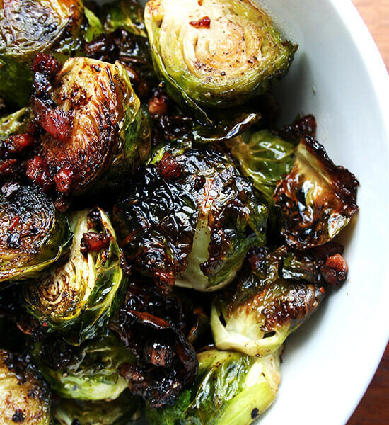 Ina Garten's balsamic roasted Brussels sprouts with pancetta