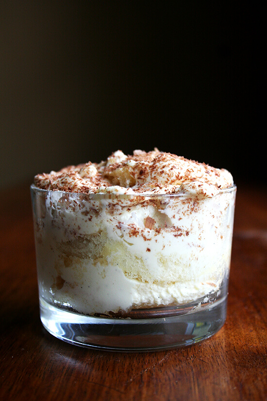 Tiramisu is the perfect dessert to have on hand when you are expecting a house full of guests for the holidays. It is one of my favorites: it can be made ahead and tucked in the fridge, it feeds a crowd, and it is oh so delicious. // alexandracooks.com