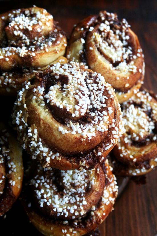 plate of cinnamon buns