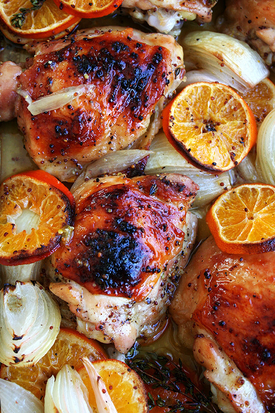 chicken with clementines