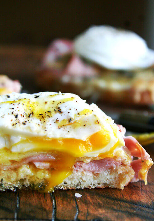 It doesn't get much better than croque monsieur: layers of bechamel, ham and gruyere cheese. Topped with a perfectly poached egg, however, croque monsieur becomes irresistible...it also becomes croque madame. // alexandracooks.com