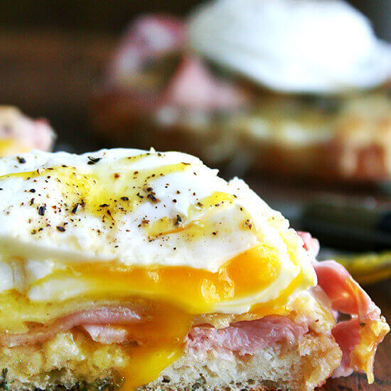 Croque Monsieur (Croque Madame) with Poached Eggs