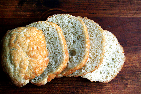 peasant bread sliced