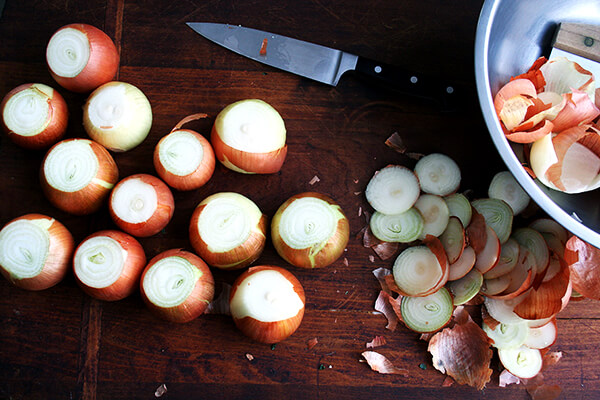 trimmed onions
