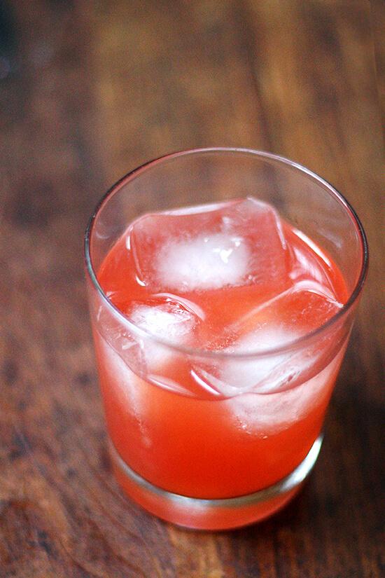 Aperol-grapefruit cocktail.