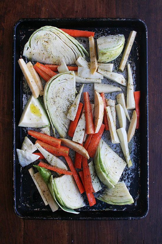 veg on sheet pan