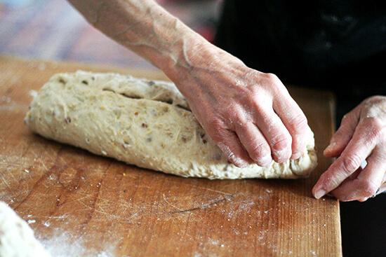 pinching the dough