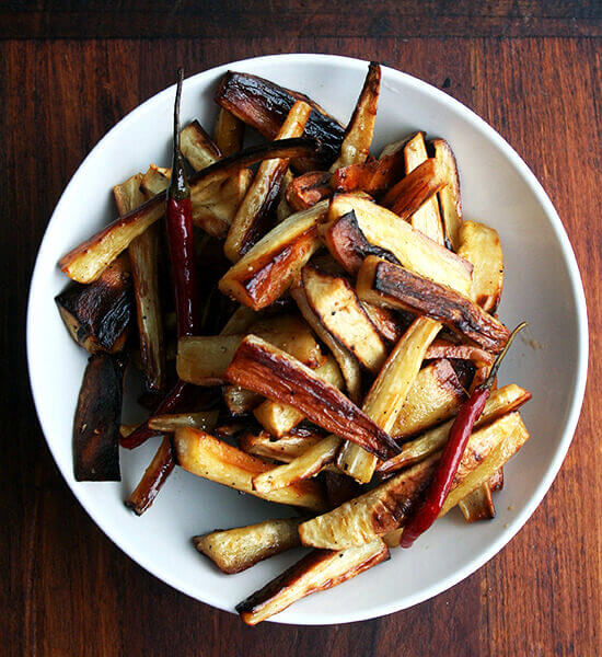Roasted Parsnips, Alexandra's Kitchen