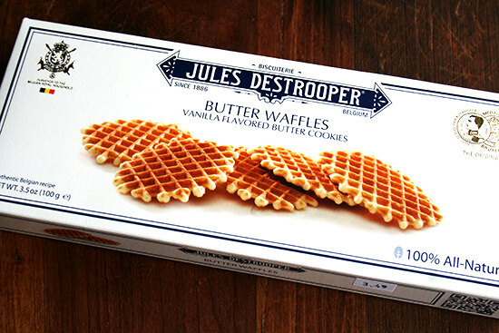 A box of jules detrooper cookies.