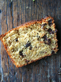I absolutely love this sour cream coffee cake — the texture is super moist, and the orange zest and juice offer the nicest complement to the chocolate. The coconut oil, too, imparts such a nice flavor and smells heavenly while baking. // alexandracooks.com
