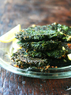 Crispy on the edges, creamy in the center, these little chard fritters, squeezed with lemon, make the most lovely Meatless Monday meal. But more importantly they save the fridge from utter and complete dark-leafy-green domination. And for that I couldn't be more grateful. // alexandracooks.com