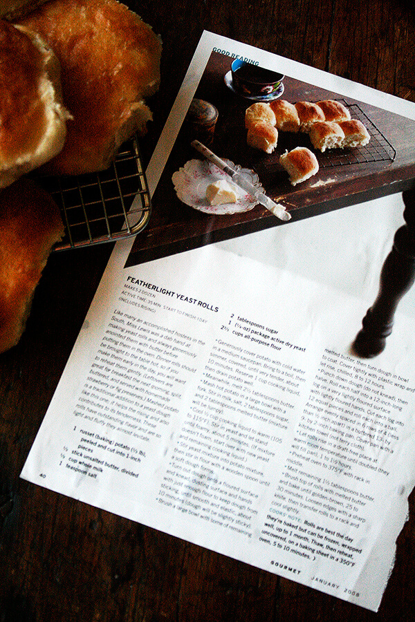 feather light potato rolls recipe