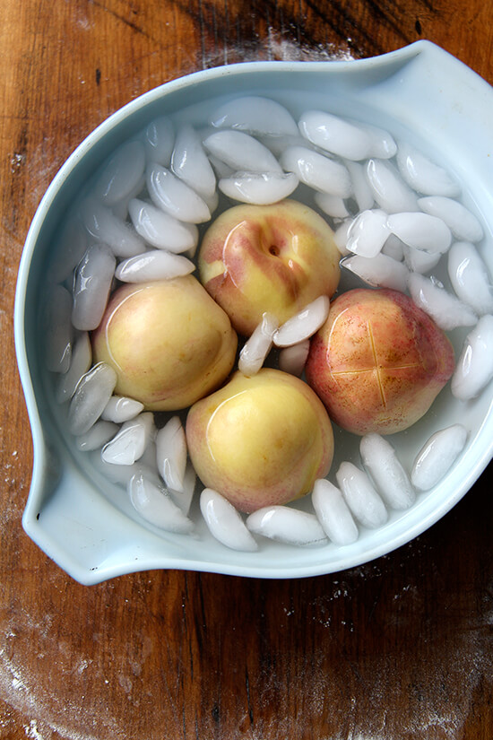 peaches blanched