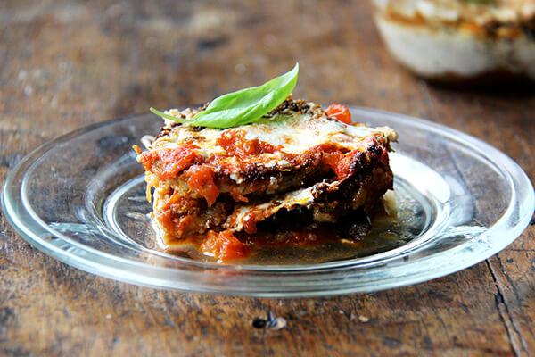 piece of eggplant parmesan