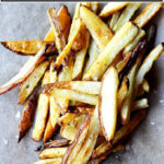 A pile of the crispiest, simplest oven-roasted fries.