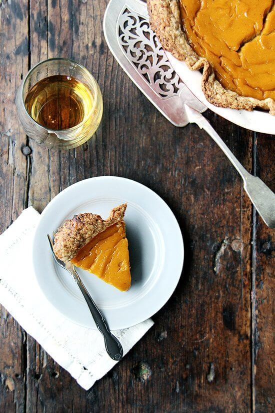 Instead of going with the default pumpkin pie this fall, go for something different and try this squash pie for your autumnal dessert. You won't be disappointed! // alexandracooks.com
