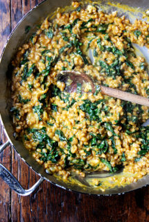 Homemade Vegetable Stock + Farro Risotto with Squash and Kale