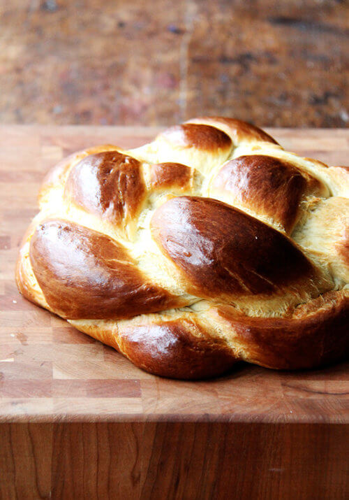 This simple challah rises beautifully and bakes into a perfectly golden, light and airy, tangle of braids. I like to make this often as a treat aside any soup and a treasure for weekend brunch.// alexandracooks.com