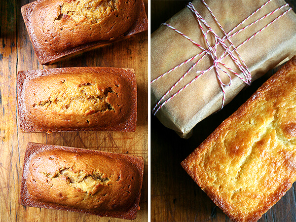 Pumpkin Bread, Orange-Ricotta Pound Cake