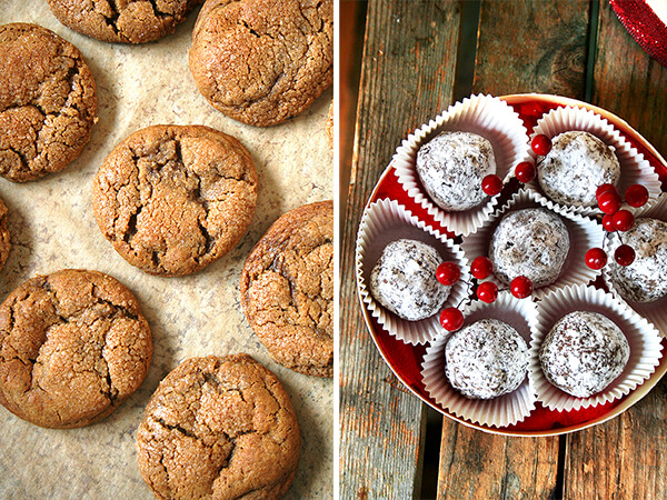 Molasses Crinkles, Rum Balls