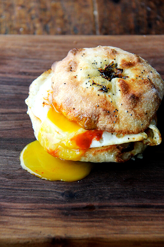 bialy egg sandwich