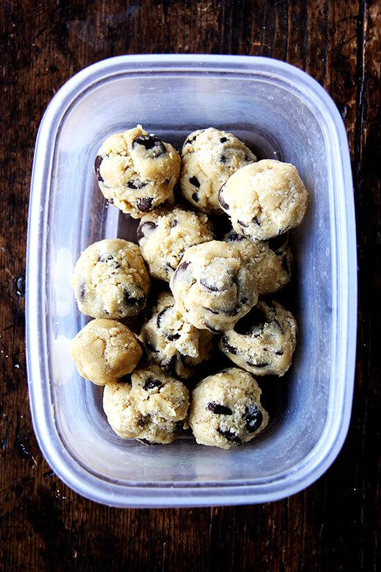 chocolate chip cookie dough balls