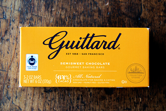 A bar of Guittard chocolate.