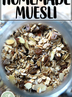 A jar of homemade muesli.