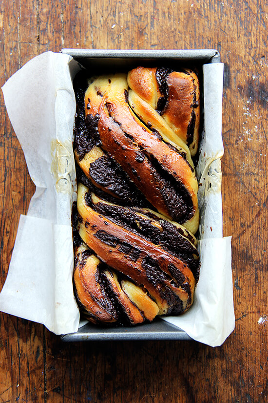 I love this babka hybrid — can't stop eating it! — and as soon as I finish off the remaining loaf on my counter, I am locking up all of my flours and leavening agents and chocolate, and I am putting an end to this baking spree once and for all! // alexandracooks.com