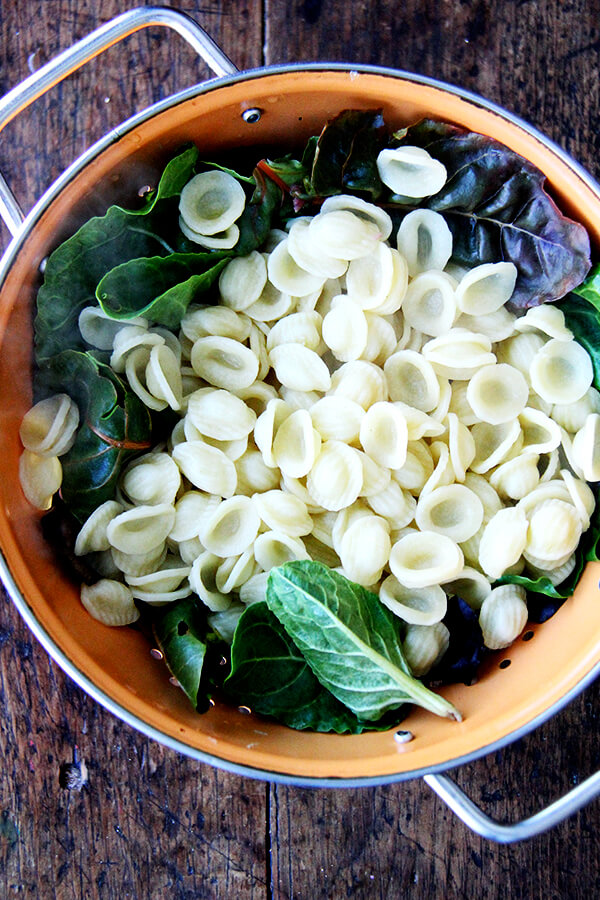 orecchiette and greens