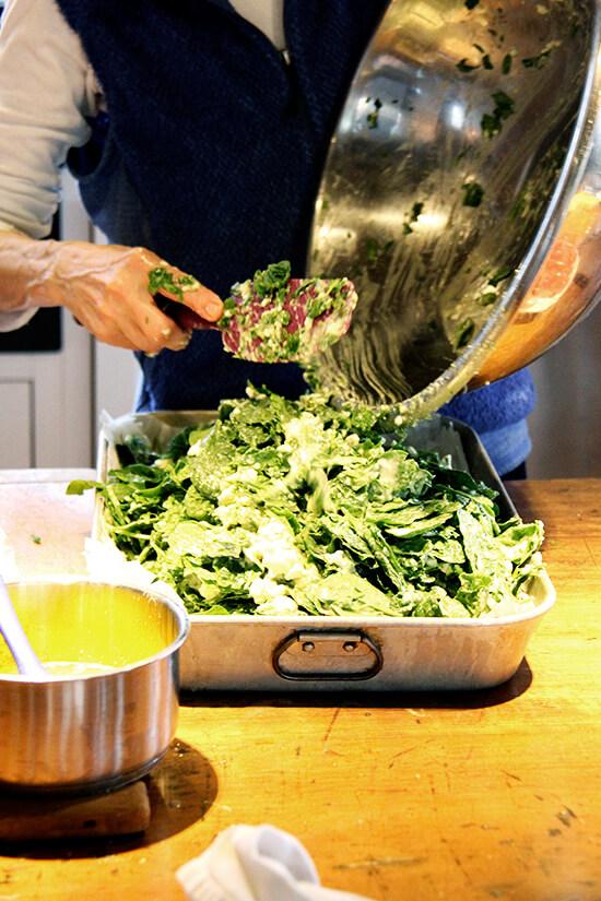 making the pita