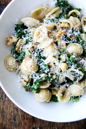 Orecchiette with Swiss Chard, Brown Butter & Walnuts
