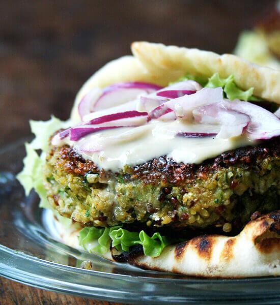 Chickpea Quinoa Veggie Burgers Alexandra S Kitchen