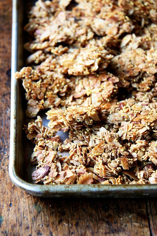 This coconut granola is a staple in our house — a double batch never lasts a full week — and while sometimes it's tempting to buy granola at the store, I've yet to find a good one. // alexandracooks.com
