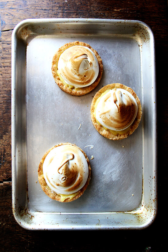 swiss meringue tarts