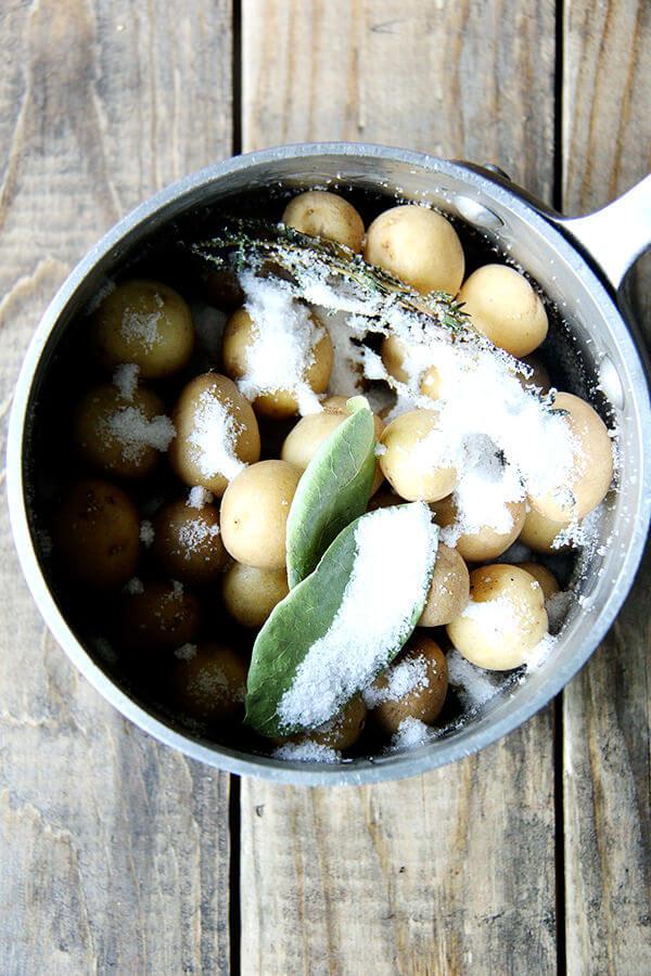 potatoes salt