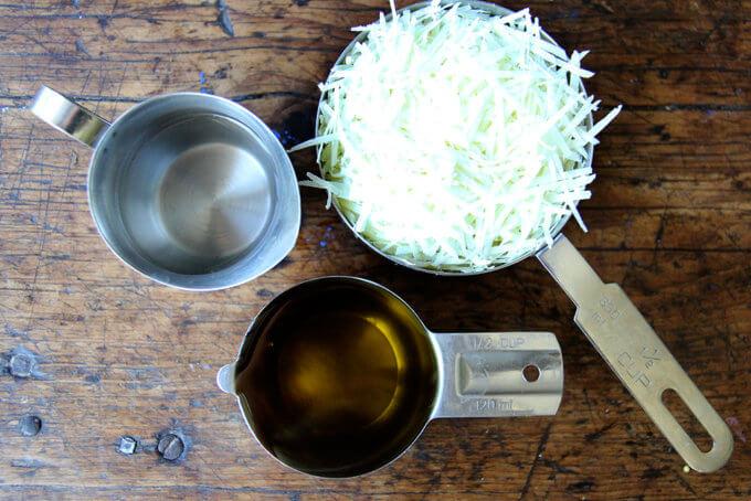 Salad dressing ingredients.