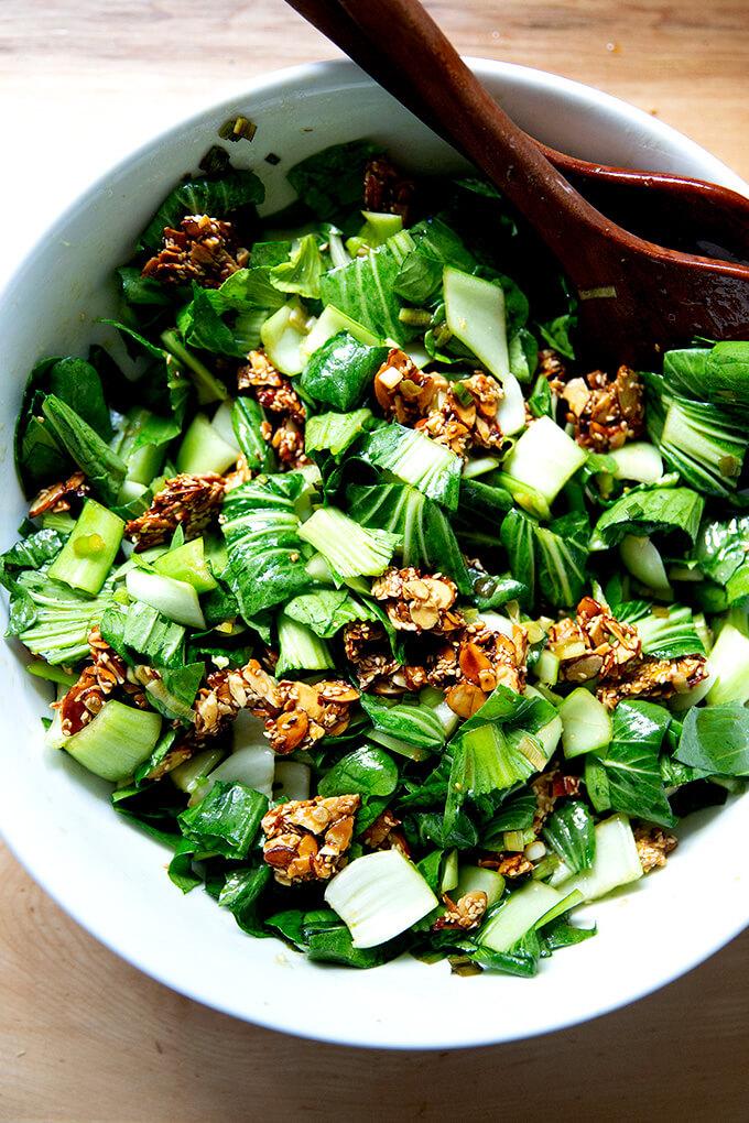 Raw bok choy salad.