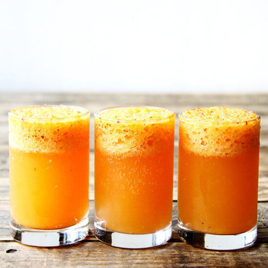 Whole Peach Bellini & A Few Ideas for the Fourth