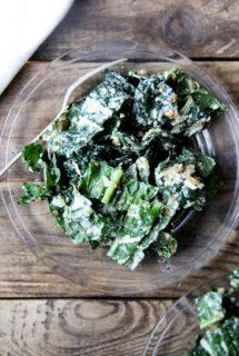Kale Salad with 4-Minute Egg Caesar Dressing