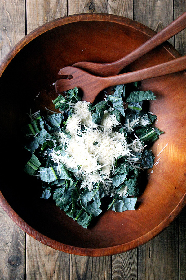 kale and parmesan