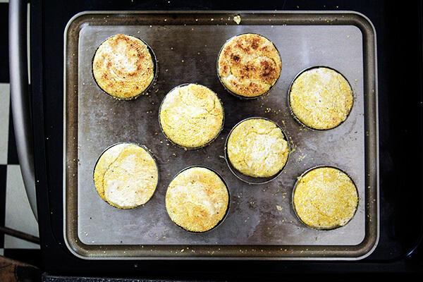 English muffins baking