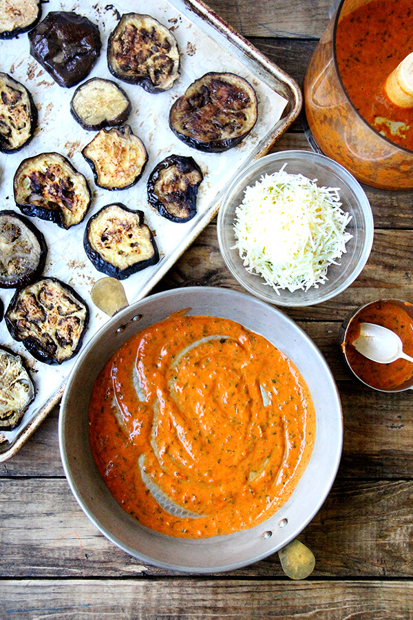 components for eggplant parmesan