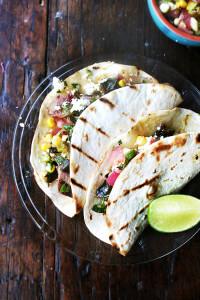 poblano-corn tacos