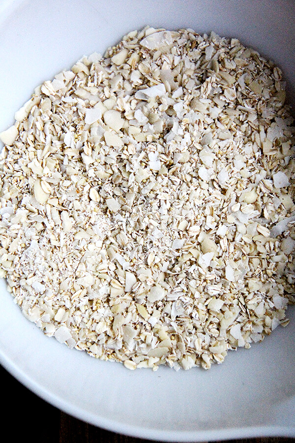 granola bar dry ingredients