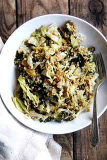 Freekeh Salad with Roasted Kale & Cabbage