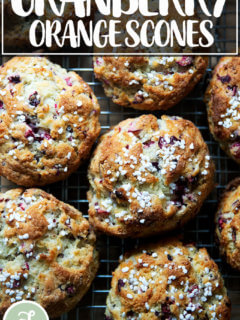 Just-baked cranberry scones.
